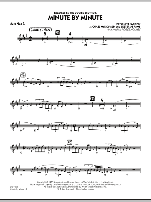 Minute By Minute - Alto Sax 2 (Jazz Ensemble)