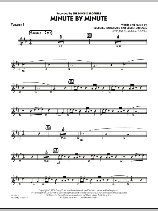 Minute By Minute - Trumpet 1 (Jazz Ensemble)