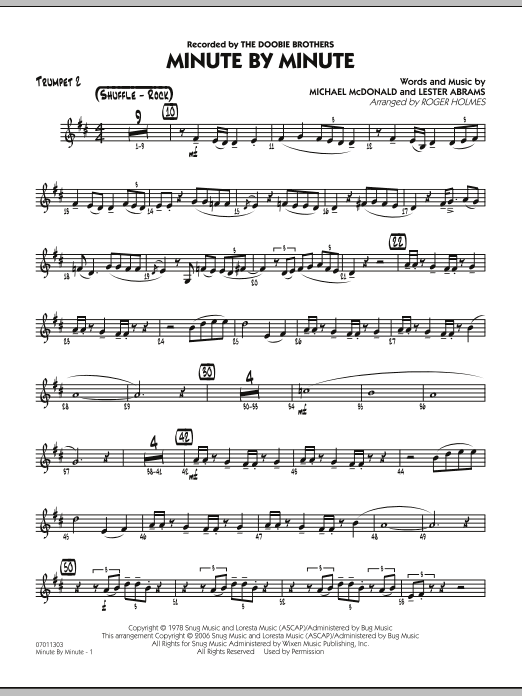 Minute By Minute - Trumpet 2 (Jazz Ensemble)