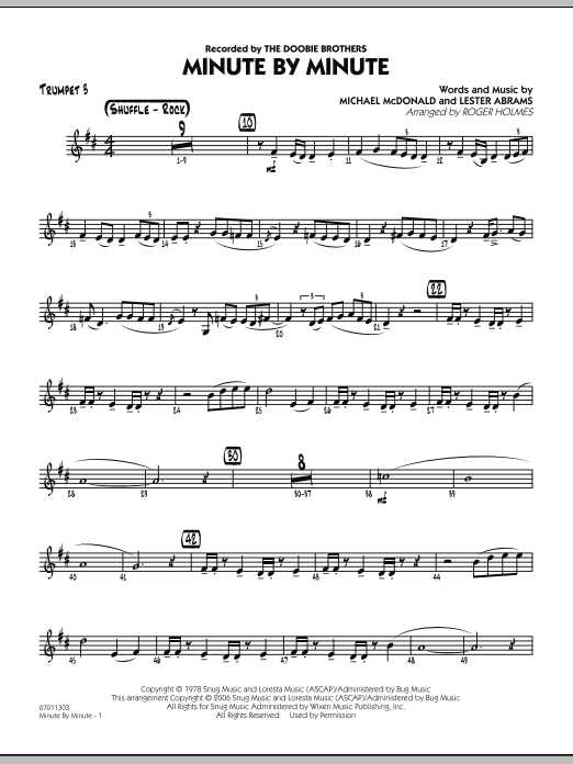 Minute By Minute - Trumpet 3 (Jazz Ensemble)