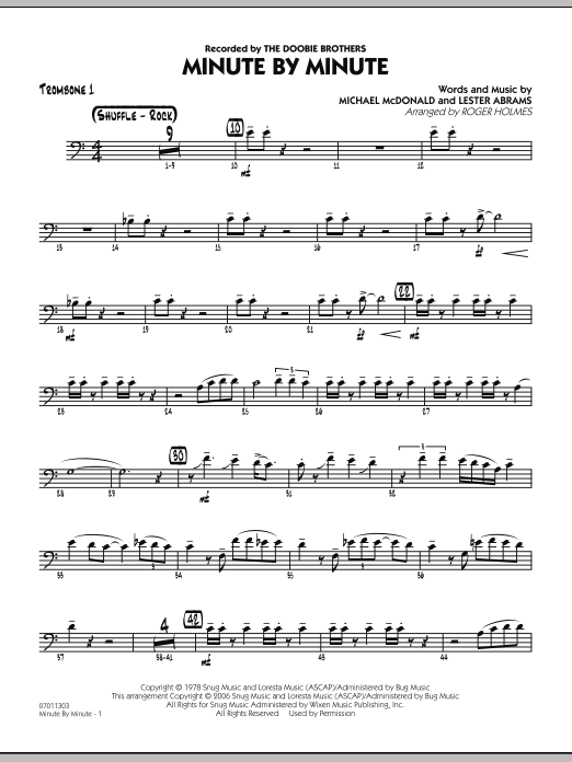 Minute By Minute - Trombone 1 (Jazz Ensemble)