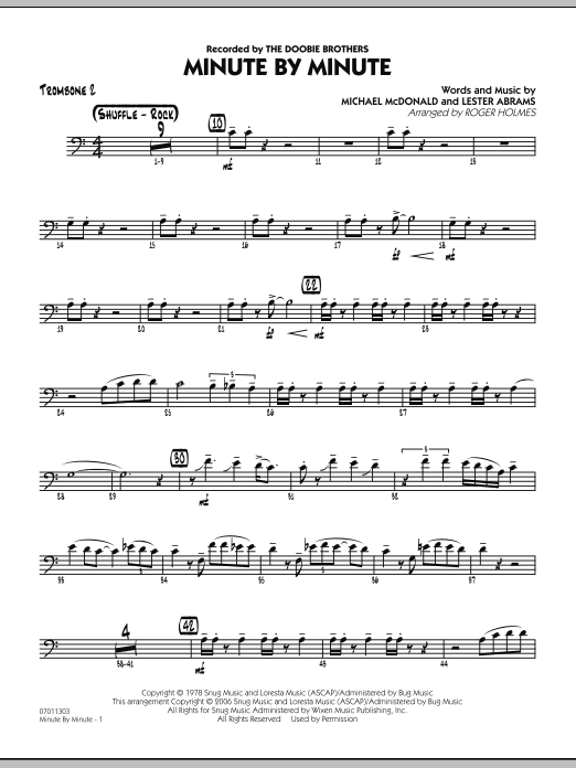 Minute By Minute - Trombone 2 (Jazz Ensemble)