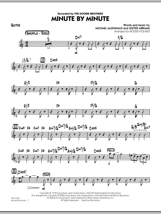 Minute By Minute - Guitar (Jazz Ensemble)