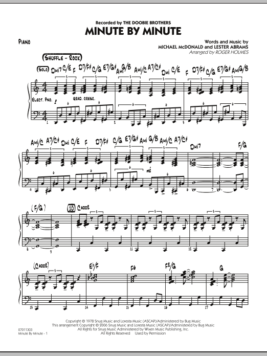 Minute By Minute - Piano (Jazz Ensemble)