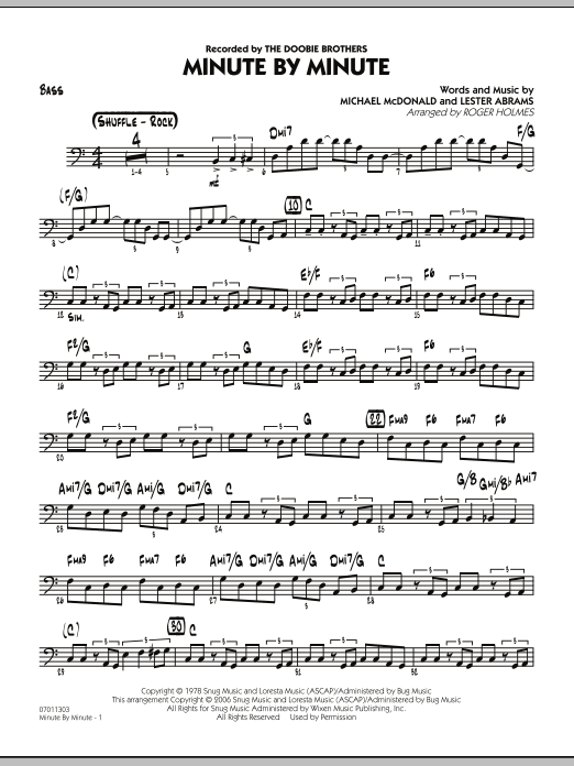 Minute By Minute - Bass (Jazz Ensemble)