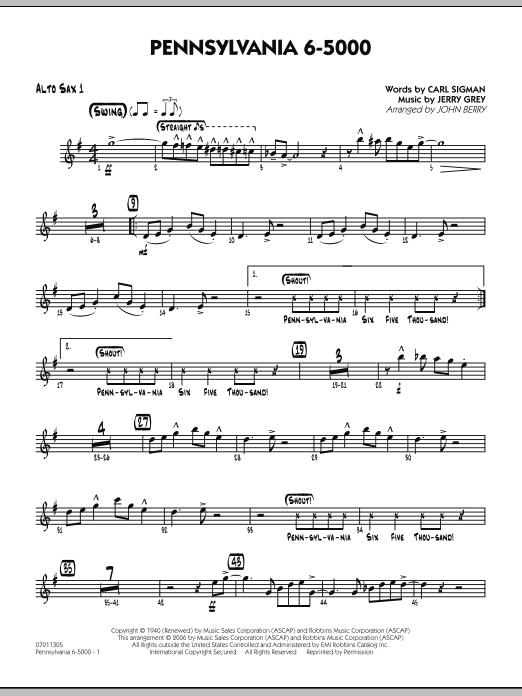 Pennsylvania 6-5000 - Alto Sax 1 (Jazz Ensemble)