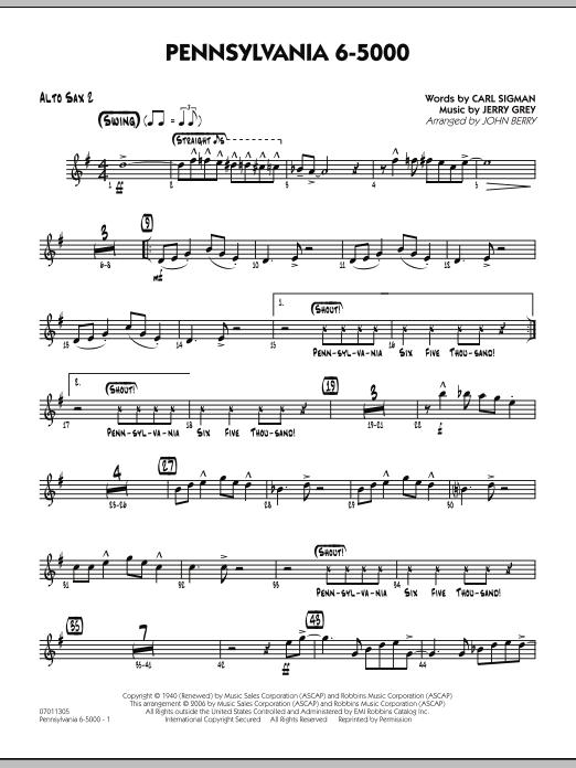 Pennsylvania 6-5000 - Alto Sax 2 (Jazz Ensemble)