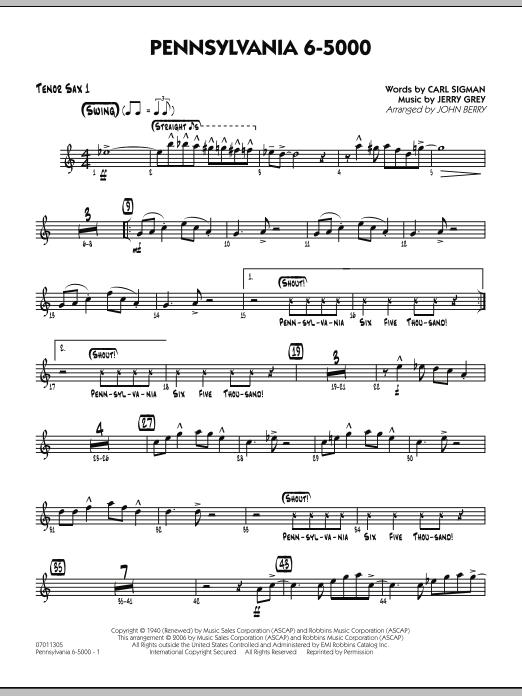 Pennsylvania 6-5000 - Tenor Sax 1 (Jazz Ensemble)