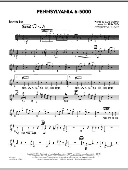 Pennsylvania 6-5000 - Baritone Sax (Jazz Ensemble)
