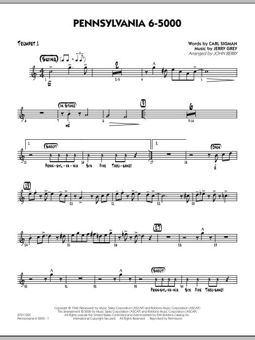 Pennsylvania 6-5000 - Trumpet 1 (Jazz Ensemble)