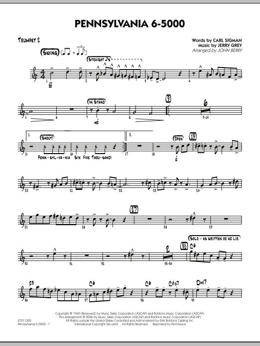 Pennsylvania 6-5000 - Trumpet 2 (Jazz Ensemble)