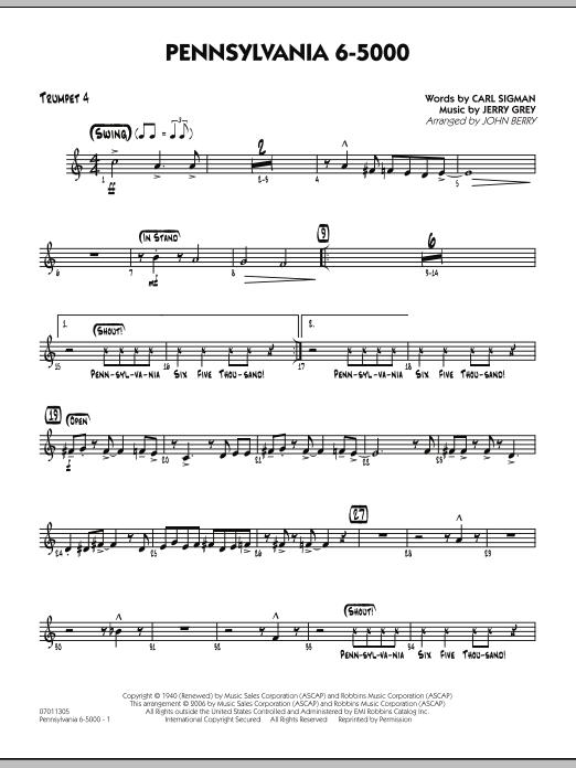Pennsylvania 6-5000 - Trumpet 4 (Jazz Ensemble)