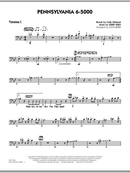Pennsylvania 6-5000 - Trombone 2 (Jazz Ensemble)