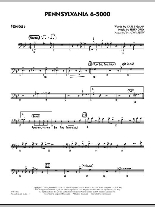 Pennsylvania 6-5000 - Trombone 3 (Jazz Ensemble)