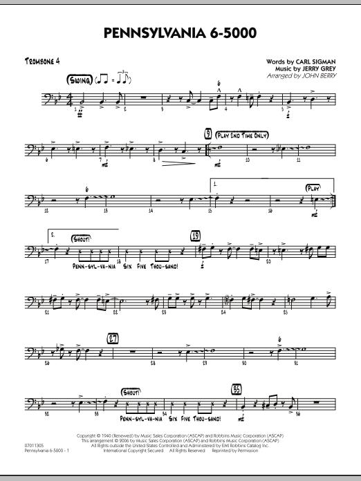 Pennsylvania 6-5000 - Trombone 4 (Jazz Ensemble)