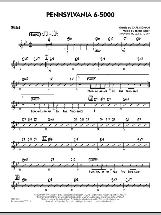 Pennsylvania 6-5000 - Guitar (Jazz Ensemble)