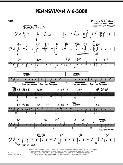Pennsylvania 6-5000 - Bass (Jazz Ensemble)