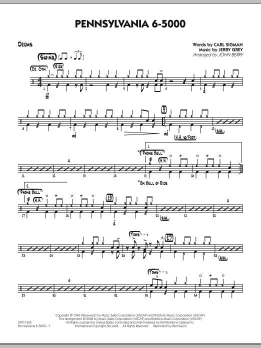 Pennsylvania 6-5000 - Drums (Jazz Ensemble)