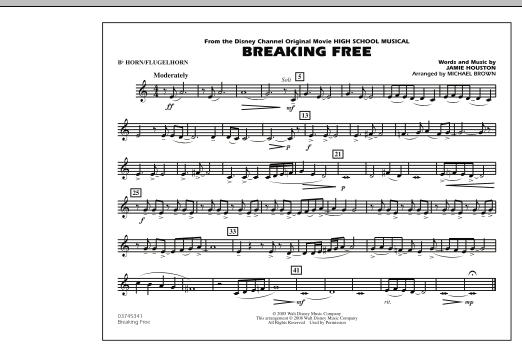 Breaking Free (from High School Musical) - Bb Horn/Flugelhorn (Marching Band)