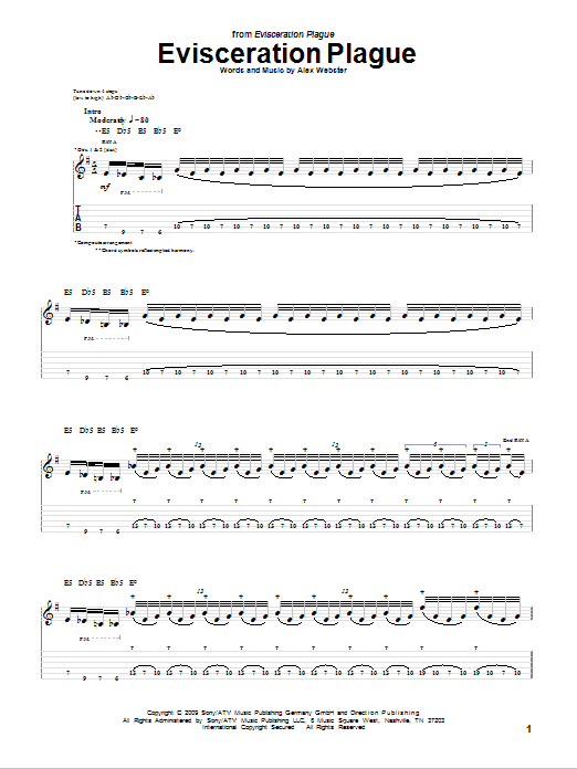 Evisceration Plague Sheet Music