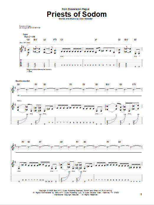 Priests Of Sodom Sheet Music