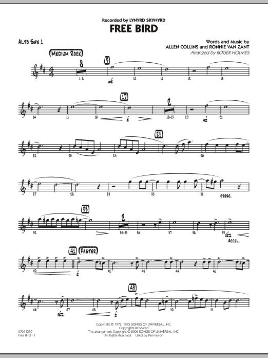 Free Bird - Alto Sax 1 (Jazz Ensemble)