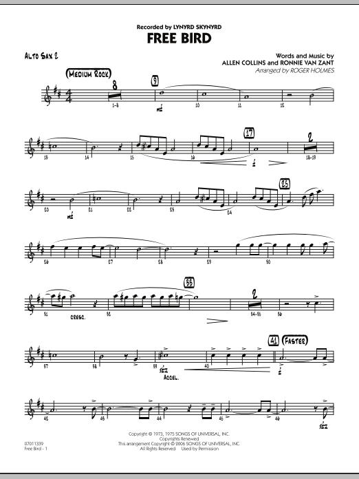 Free Bird - Alto Sax 2 (Jazz Ensemble)