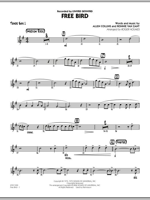 Free Bird - Tenor Sax 1 (Jazz Ensemble)