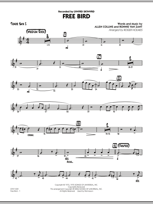 Free Bird - Tenor Sax 2 (Jazz Ensemble)
