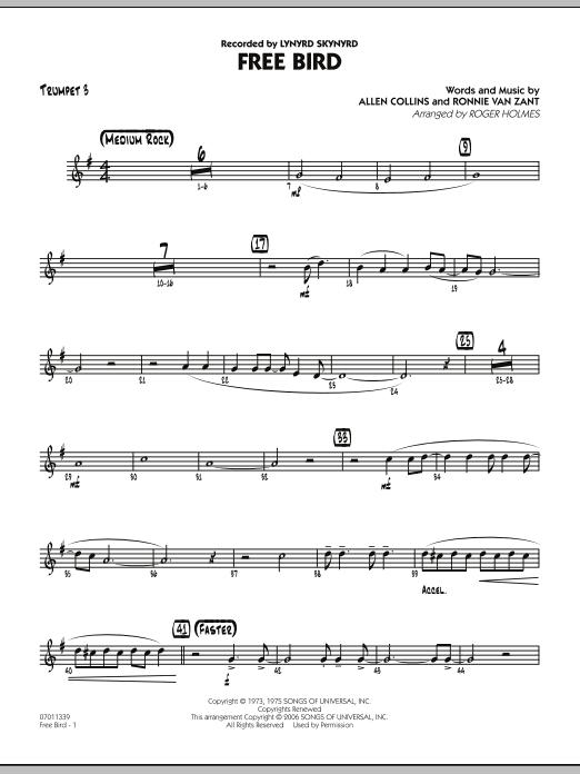 Free Bird - Trumpet 3 (Jazz Ensemble)