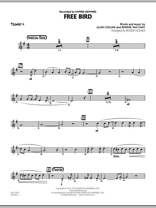 Free Bird - Trumpet 4 (Jazz Ensemble)