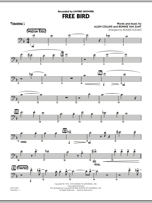 Free Bird - Trombone 1 (Jazz Ensemble)