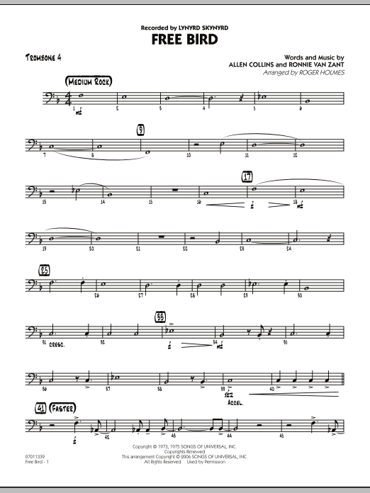 Free Bird - Trombone 4 (Jazz Ensemble)
