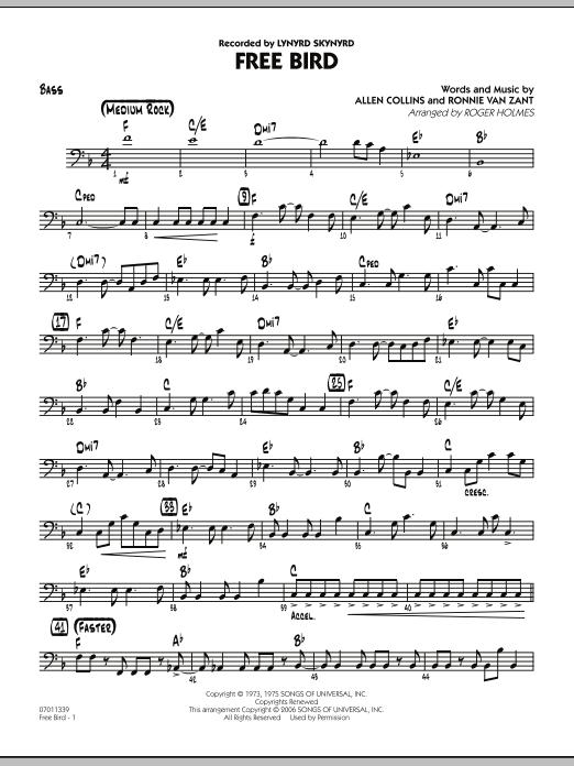 Free Bird - Bass (Jazz Ensemble)