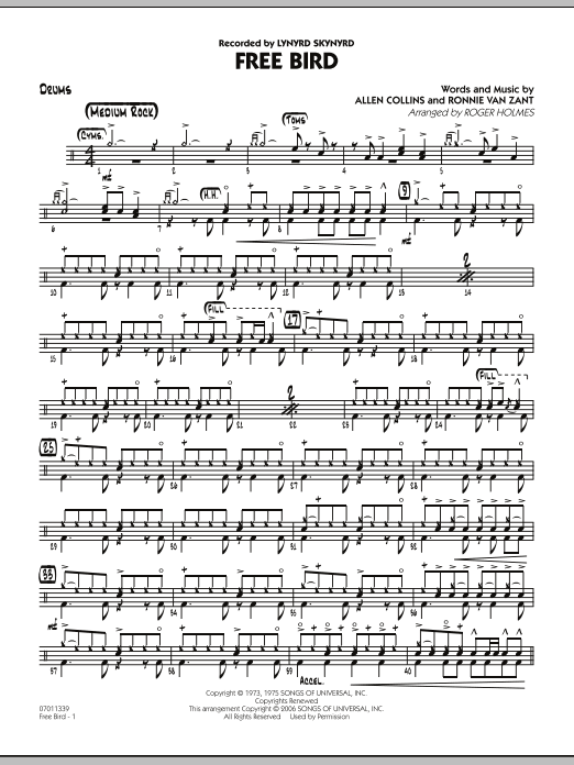 Free Bird - Drums (Jazz Ensemble)