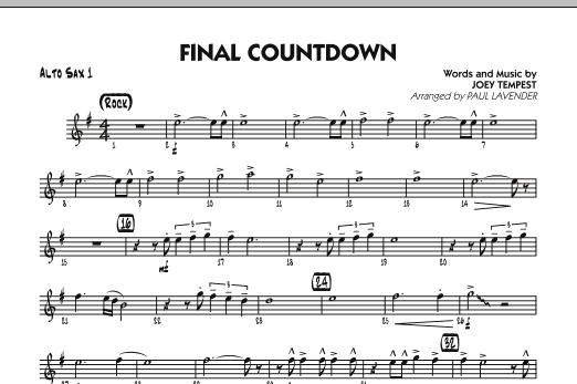 Final Countdown - Alto Sax 1 (Jazz Ensemble)