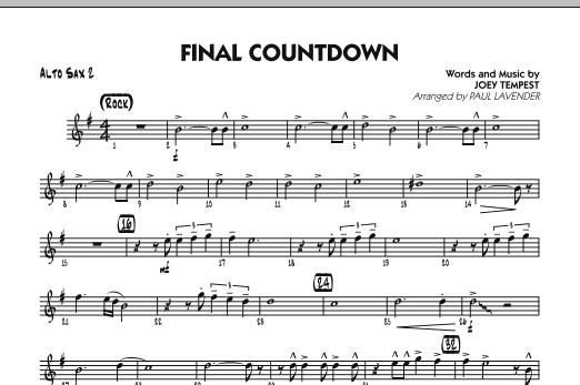 Final Countdown - Alto Sax 2 (Jazz Ensemble)