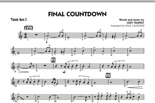 Final Countdown Tenor Sax 2 By Joey Tempest Europe Joey Tempest