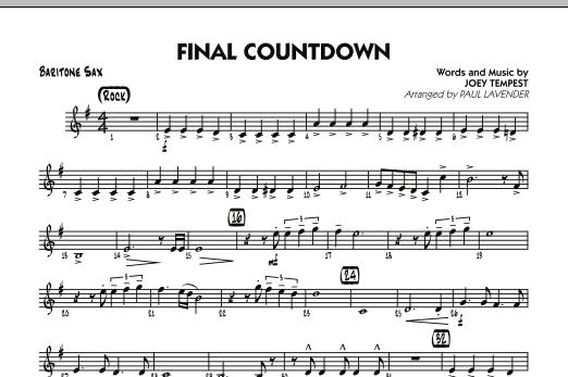 Final Countdown - Baritone Sax (Jazz Ensemble)
