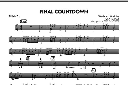 Final Countdown - Trumpet 1 (Jazz Ensemble)