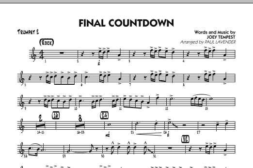 Final Countdown - Trumpet 2 (Jazz Ensemble)