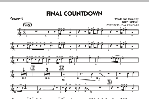 Final countdown trumpet 3 sheet music to download.