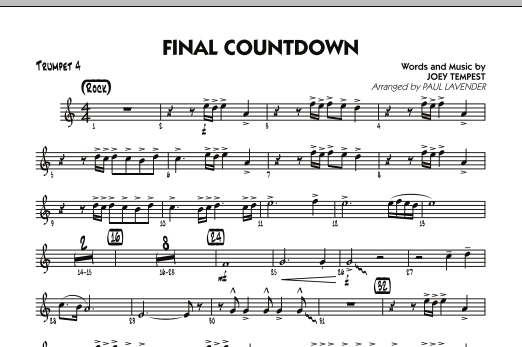 Final Countdown - Guitar by Joey Tempest, Europe, Joey Tempest, Paul ...