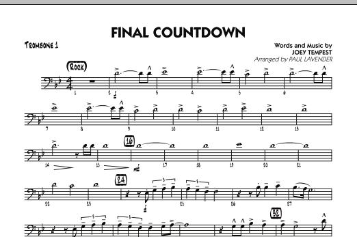 Final Countdown - Trombone 1 (Jazz Ensemble)