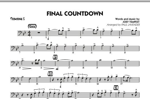 Final Countdown - Trombone 2 (Jazz Ensemble)