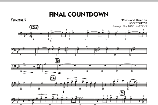 Final Countdown - Trombone 3 (Jazz Ensemble)