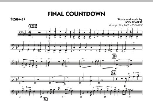 Final Countdown - Trombone 4 (Jazz Ensemble)