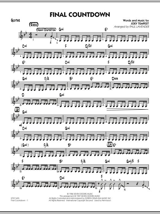 Final Countdown - Guitar (Jazz Ensemble)
