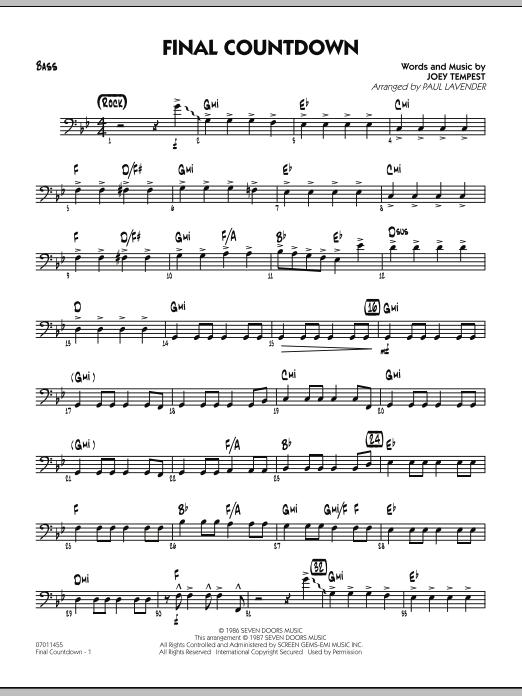 Final Countdown - Bass (Jazz Ensemble)
