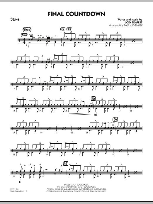 Final Countdown - Drums (Jazz Ensemble)